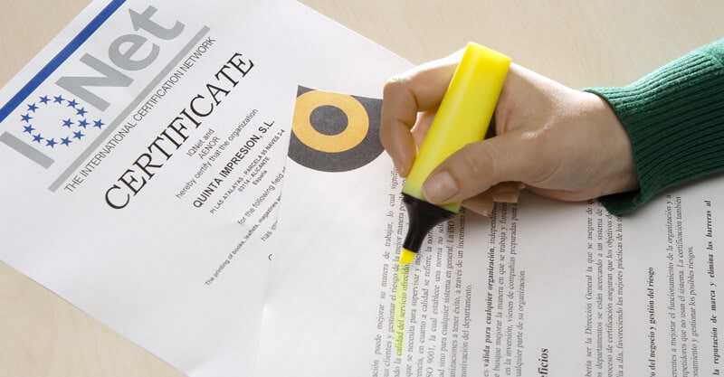 Imprenta certificada