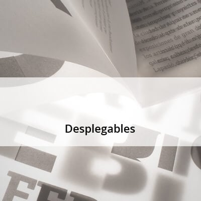 Desplegables y folletos